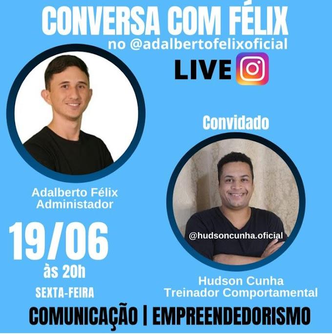 Treinador comportamental Hudson Cunha participa de Live no Instagram nesta sexta-feira, às 20h