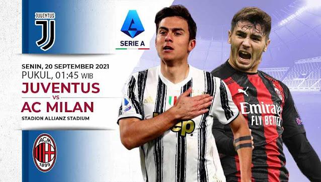 Link Live Streaming Liga Serie A Italia - Juventus vs AC Milan