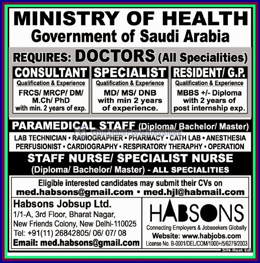 Ministry of Health KSA Jobs - Gulf Jobs for Malayalees