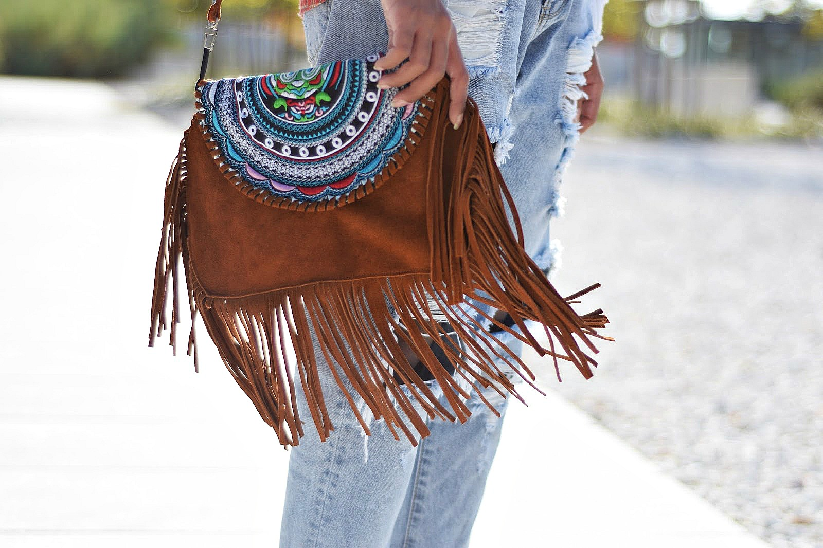 ethnic tassel boho bag