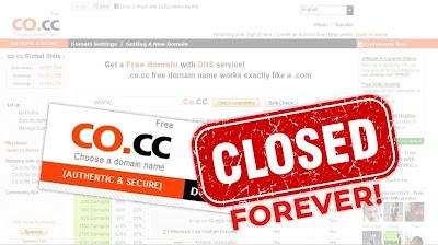 co.cc Closes Down