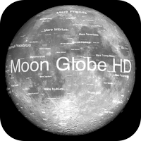 moon globe hd itunes app icon