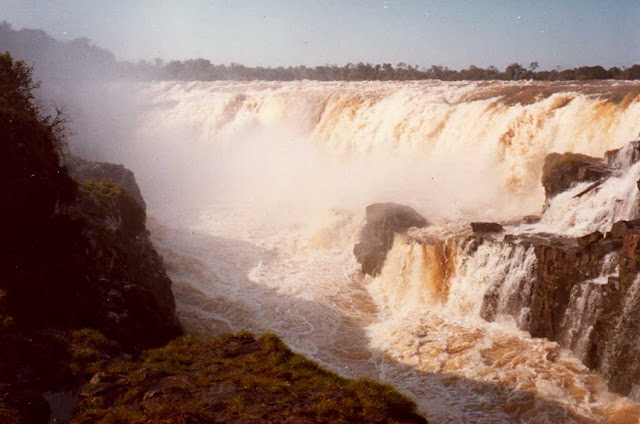 Guaíra Falls which were submerged by the Itaipú dam in 1982