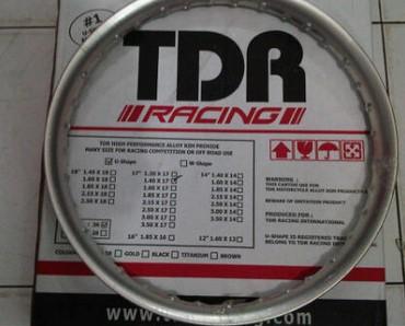 Daftar harga velg tdr ring 17 14 sepasang tapak lebar jari jari aluminium fullset murah terbaru