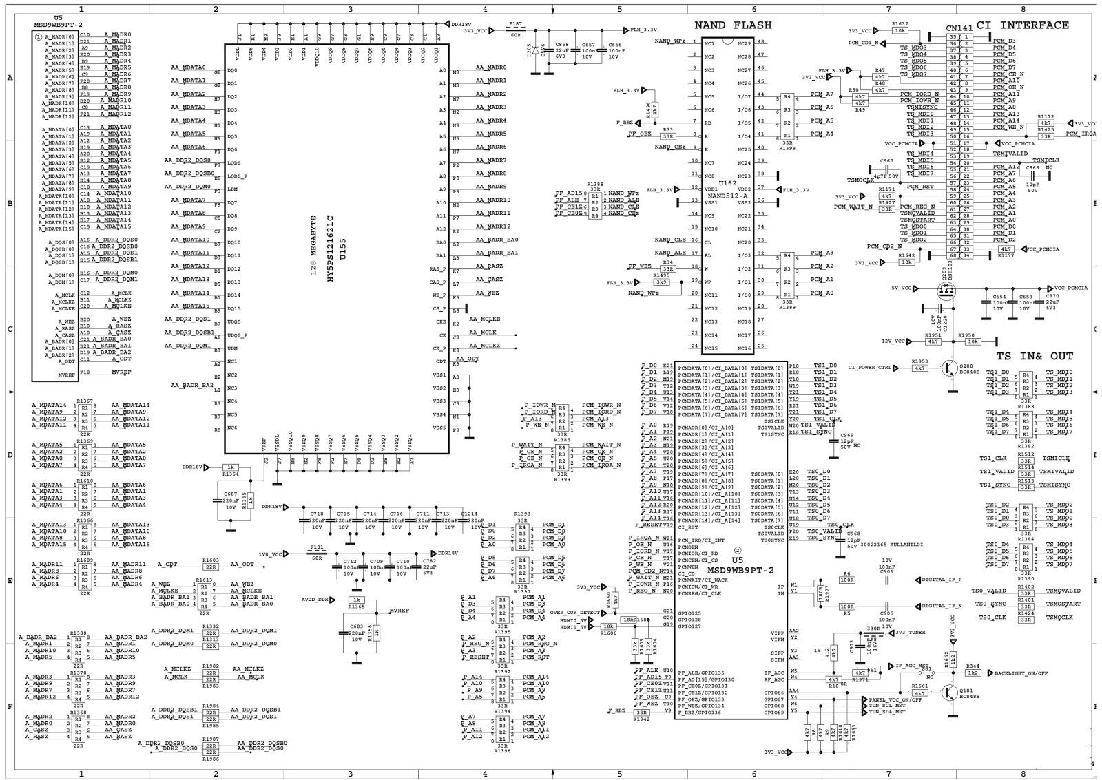 Schematic Diagrams: Sharp LC-32LE140E LCD TV