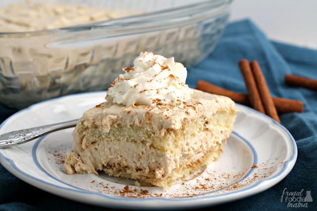 A traditional Italian dessert gets a tasty cinnamon spiced twist perfect for fall in this No-Bake Cinnamon Tiramisu.