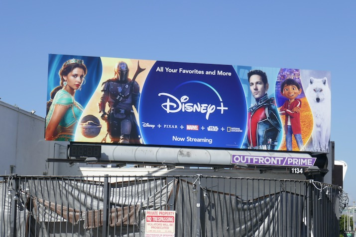 Disney plus spring 2020 billboard