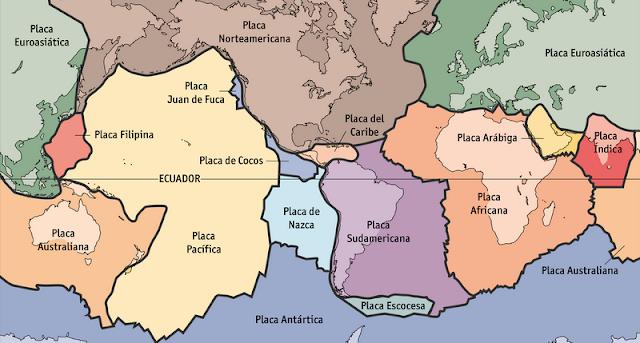 placas, tectonicas, planeta