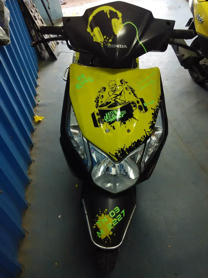 Dio Modified 2018 Honda Dio Stickering Designs Car Accessories Modified Cars Modified