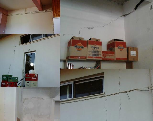 Ρωγμές σε σπίτια - Ψυχραιμία συνέστησε ο Περιφερειάρχης (+ΦΩΤΟ)