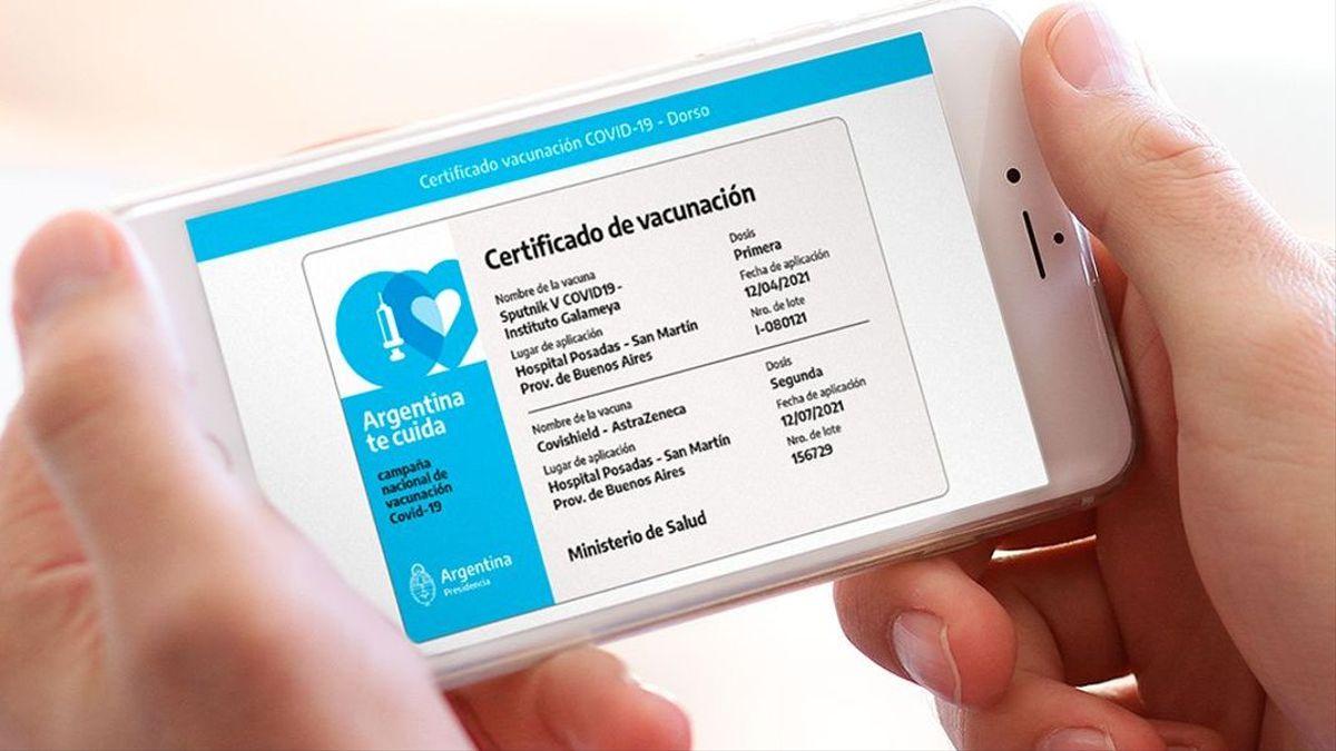 Coronavirus en Argentina: cómo tramitar el Certificado digital de vacunación COVID-19