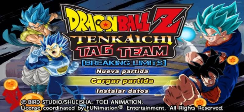 DBZ Tenkaichi Tag Team Mod BT3 ISO Download