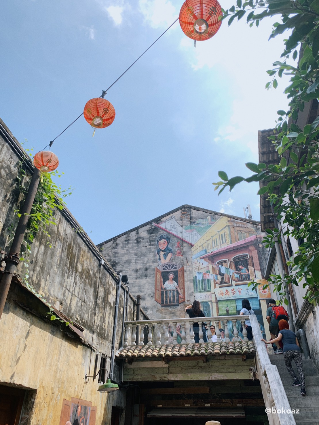 Landlady mural at kwai chai hong