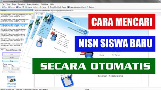 Cara Mencari NISN Siswa Baru Secara Otomatis