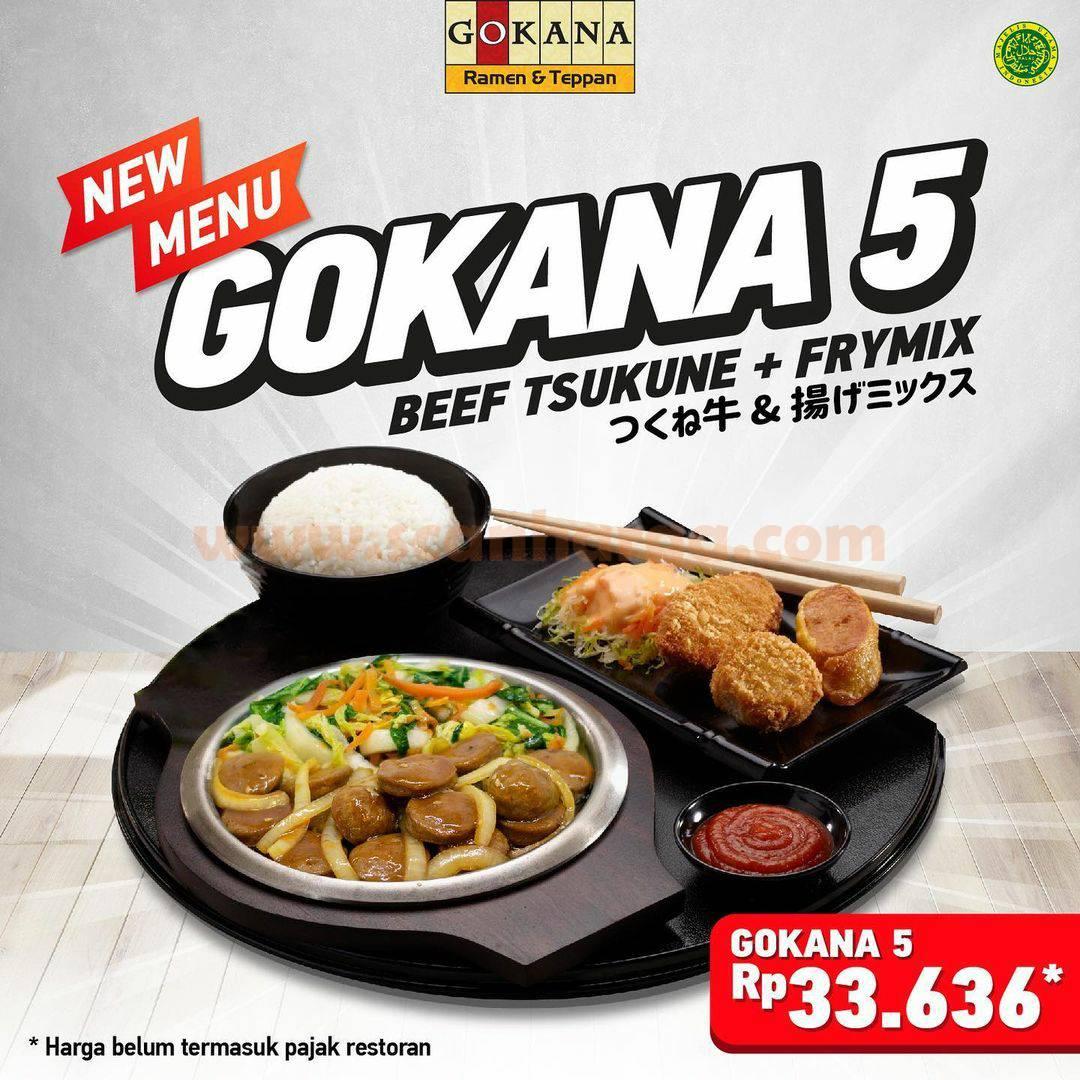 Menu Baru Gokana 5 harga Spesial hanya Rp 33.636