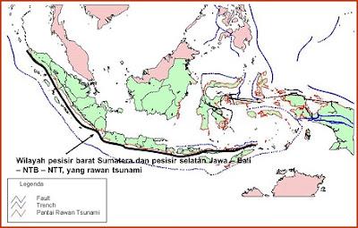 peta rawan bencana tsunami