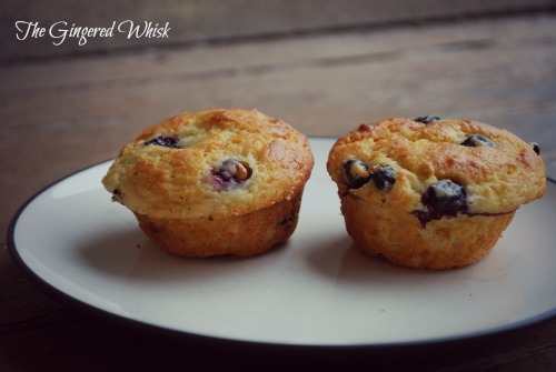 Lime and blueberry muffins are healthy and delicious