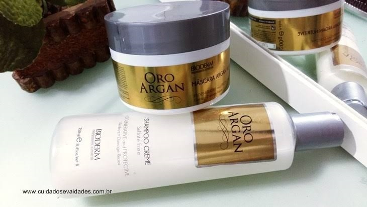 Shampoo e Máscara Bioderm Oro Argan