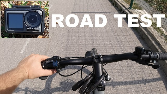 DJI Osmo Action outdoor bike test