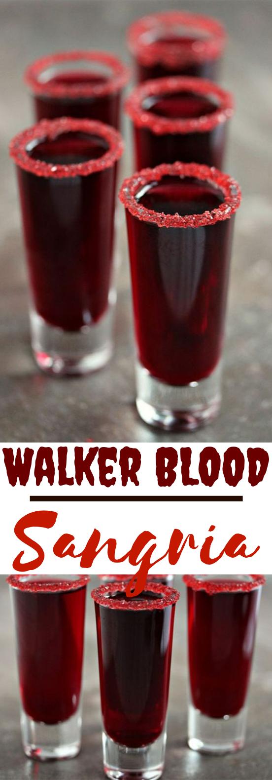 Walker Blood Sangria #drinks #alcohol #halloween #cocktails #beverages