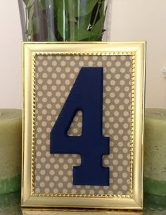 navy gold table numbers