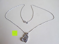 Lieferumfang: Morella® Damen Halskette Herz Buchstabe I 925 Silber rhodiniert mit Zirkoniasteinen weiß 46 cm