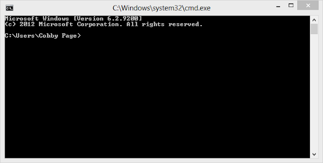 Enabled Command Prompt Window