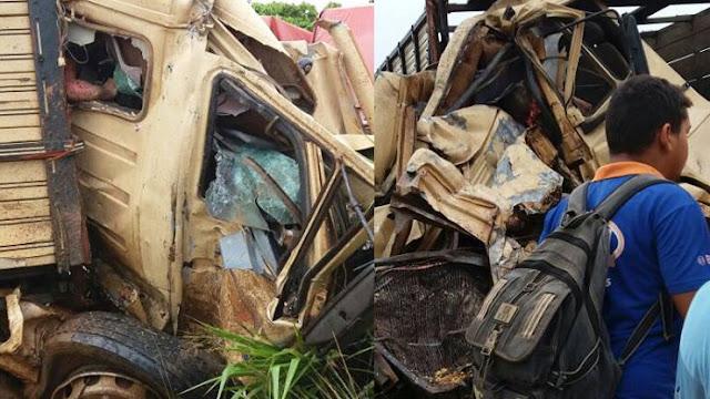 Acidente violento entre carreta e caminhão boiadeiro mata motorista e deixa outro em estado grave na BR 364