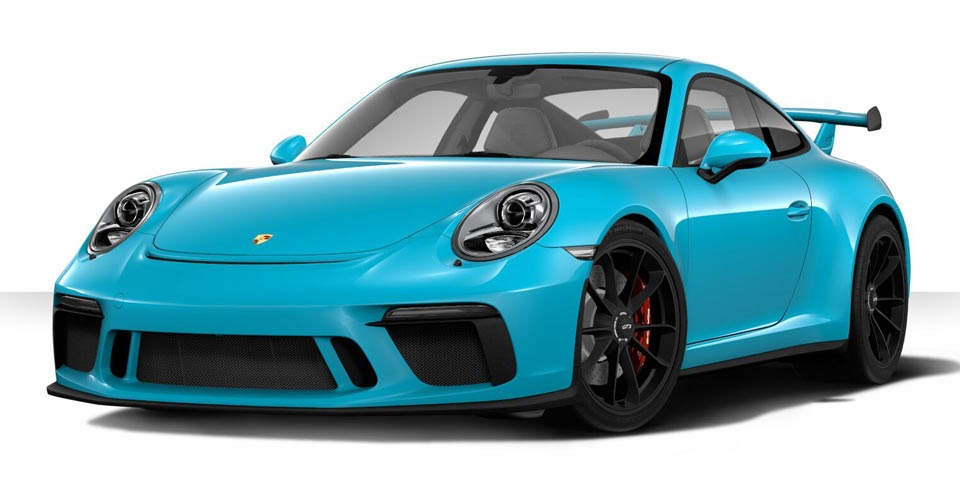 create your dream 2018 porsche 911 gt3 with updated configurator. Black Bedroom Furniture Sets. Home Design Ideas