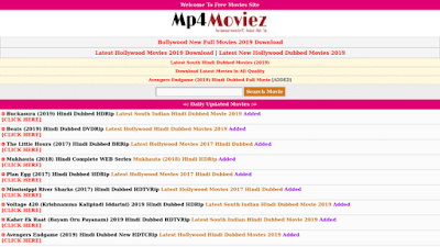Mp4moviez 2020 - Illegal HD Movies Download Website