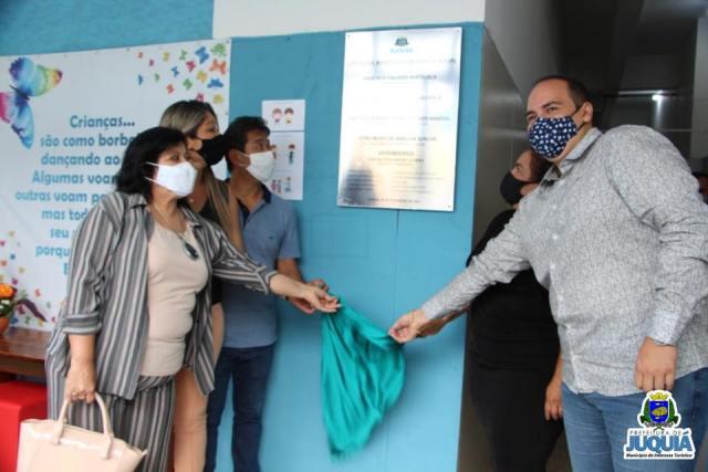 JUQUIÁ INAUGURA CENTRO DE APOIO EDUCACIONAL E SOCIAL - CAES