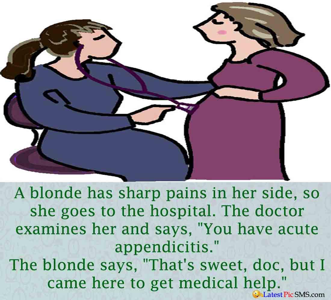 Blonde Doctor Funny Joke