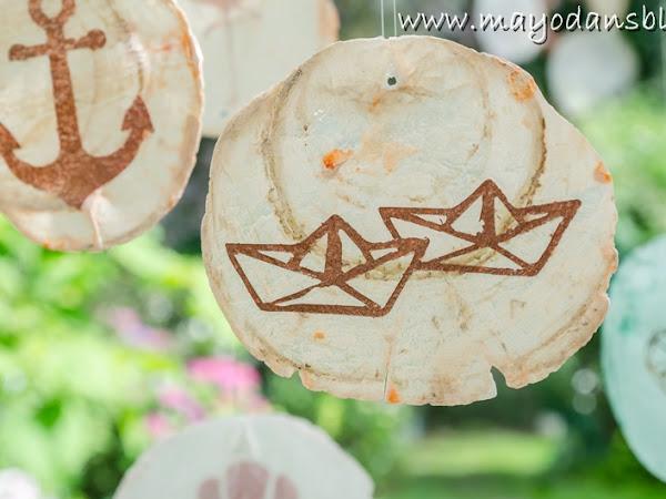 DIY Sommerdeko aus Capiz-Muscheln basteln