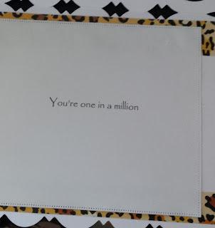 Born to be Wild  - Leopard on branch (Pollyanna Pickering) C5 fancy edged card  insert
