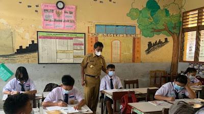 Pemko Binjai Memastikan Beberapa Sekolah Lakukan Uji Coba Pembelajaran Tatap Muka