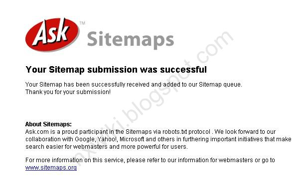 How to Submit Blogger Sitemap to Ask.com
