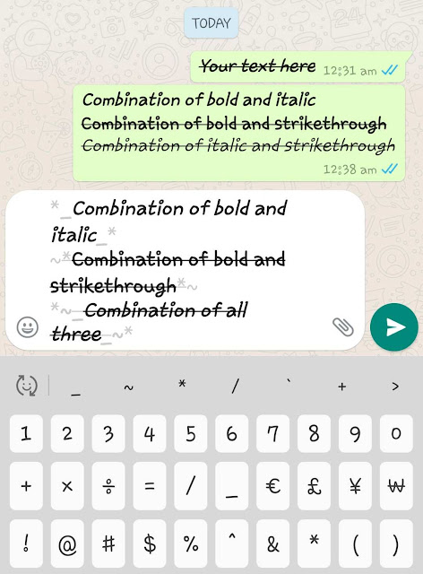 Use combination of WhatsApp fonts