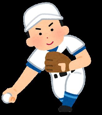 野球のピッチャーのイラスト(アンダースロー)