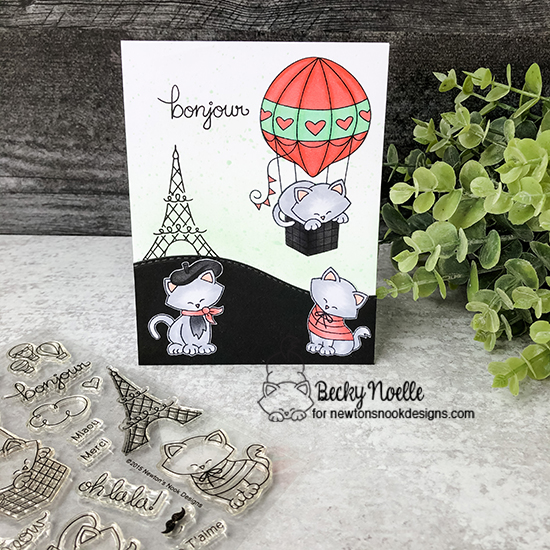 Bonjour by Becky features Newton Dreams of Paris and Land Borders by Newton's Nook Designs; #newtonsnook
