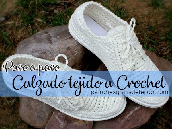 Zapatos Tejidos a Crochet / Paso a paso | Crochet y Dos agujas ...