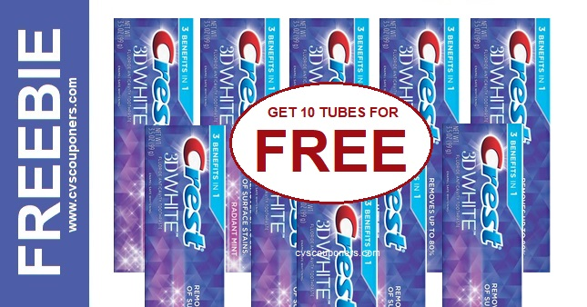 FREE Crest 3D White Toothpaste CVS Deal 1124-1130