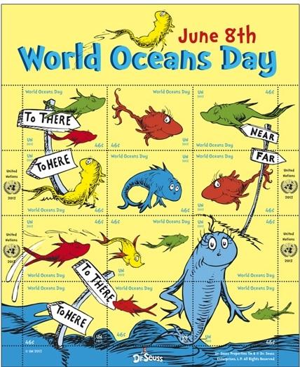 Resultado de imagem para selo do DIA MUNDIAL dos oceanos