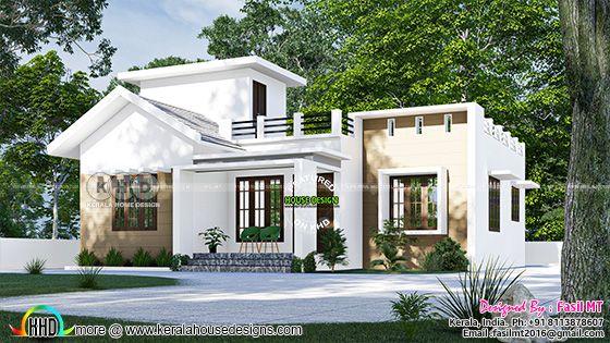 Small budget single floor Kerala home design