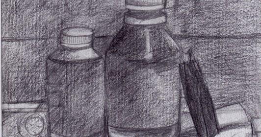 Dibujo # 8: Composición De 3 Objetos