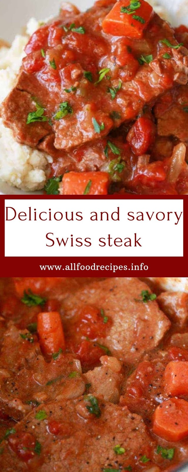 Delicious And savory Swiss steak