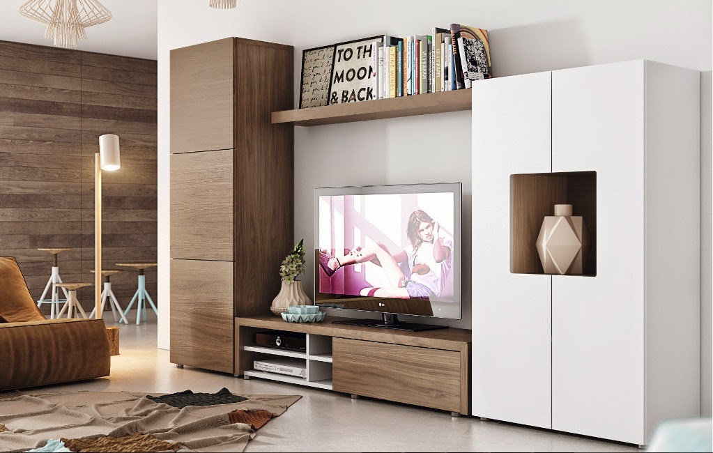 Fotografias de muebles de salon modernos - Muebles salon modernos blanco ...