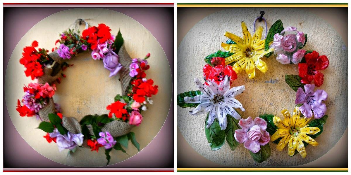 d7cb174db7 Καλωσορίζω τη νέα μου φίλη από το http   lila365idees.blogspot.gr  και τη  συμμετοχή της με τα πρωτομαγιάτικα στεφάνια. Το πρώτο είναι με τριαντάφυλλα  και ...