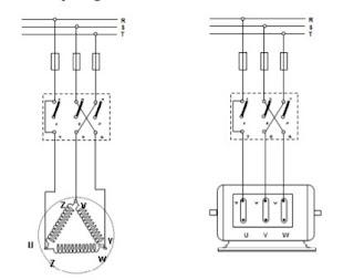 Pengawatan Motor 3 Fasa menggunakan Sakelar TPDT