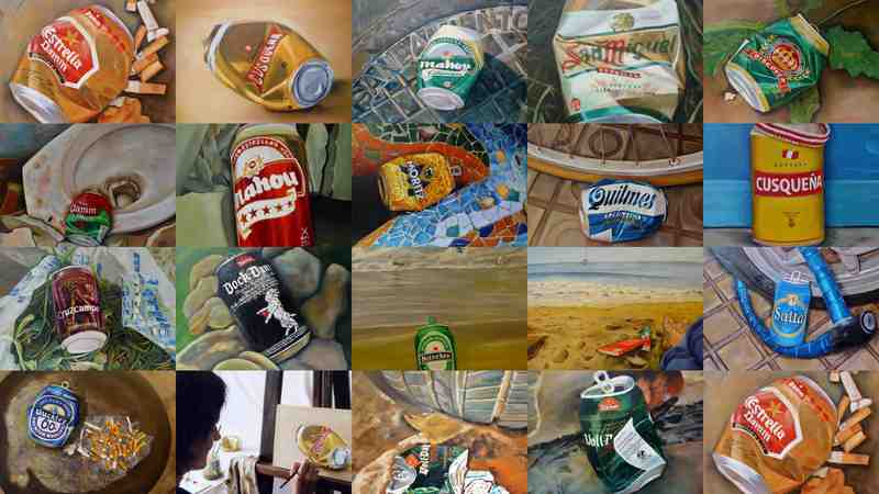 Collage de mis cuadros de latas de cerveza for Collage de cuadros