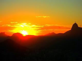 Cristo Redentor, visto do Morro da Urca, Rio de Janeiro